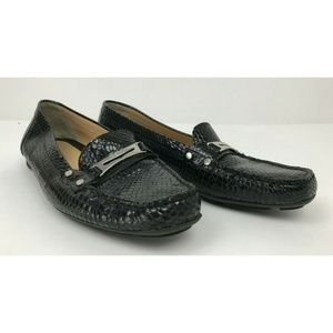 Geox Respira D Grin Smooth Leather Loafers Shoes